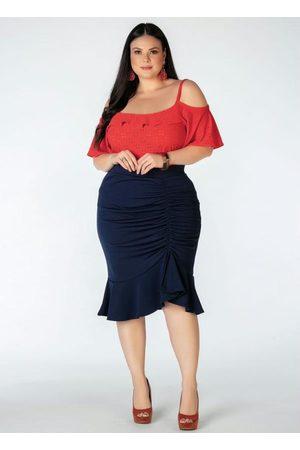 Mink Blusa Plus Size Ciganinha