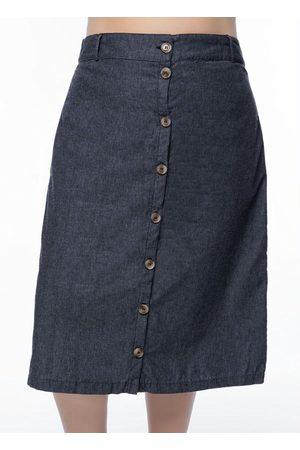 Mink Saia Plus Size Chumbo Jeans