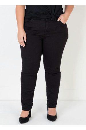 Mink Mulher Calça Skinny - Calça Jeans Skinny Plus Size Preta