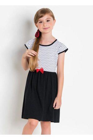 QUEIMA ESTOQUE Menina Vestido Estampado - Vestido Manga Curta Estampa Poá Infantil