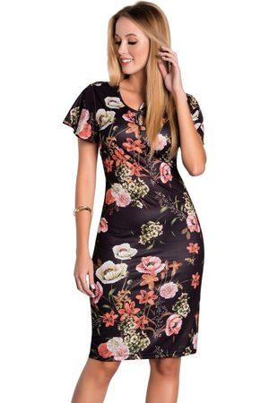 QUEIMA ESTOQUE Mulher Vestido Estampado - Vestido Floral Moda Evangélica com Mangas Amplas