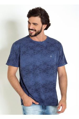 Actual Homem Manga Curta - Camiseta com Tie Dye em Renda