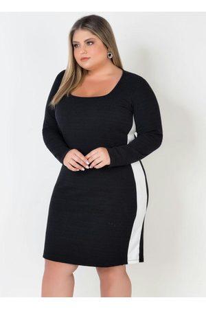 Mink Mulher Vestido Longo - Vestido Plus Size com Faxa Lateral /Branco