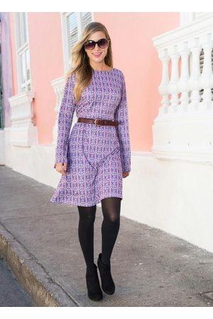 QUEIMA ESTOQUE Mulher Vestidos - Vestido Decote Costas Lilás