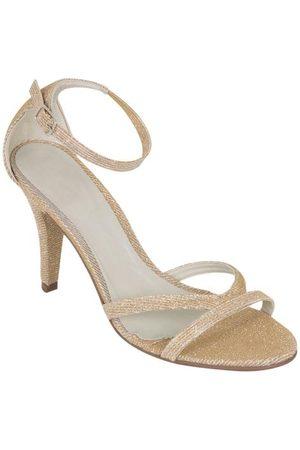 QUEIMA ESTOQUE Mulher Sandálias - Sandália Dourada com Lurex e Glitter