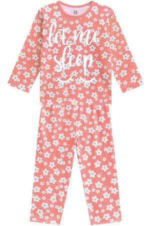Brandili Pijama Menina em Malha e Brilha no Escuro Salmão
