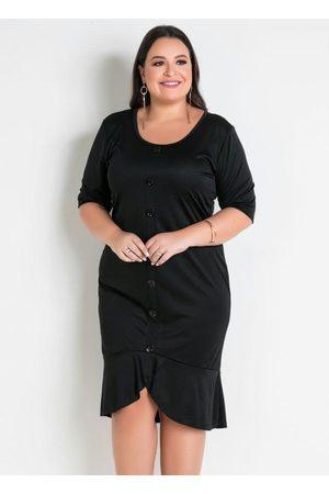 Marguerite Mulher Vestidos - Vestido com Babado na Barra Plus Size