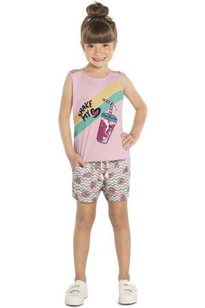 Rovitex Kids Menina Conjuntos - Conjunto Infantil Regata com Shorts