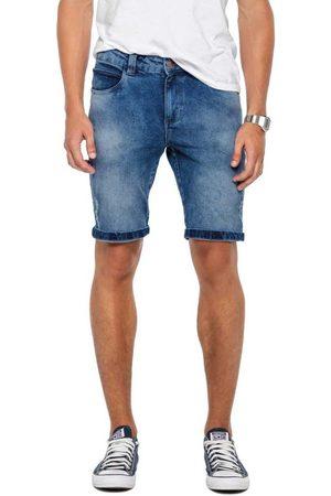 ENFIM Bermuda Escuro Slim em Jeans Índigo