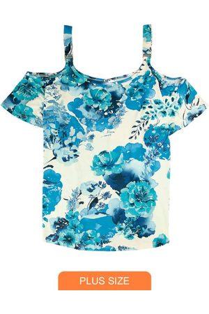 Wee Malwee Mulher Blusa - Blusa Ciganinha Floral