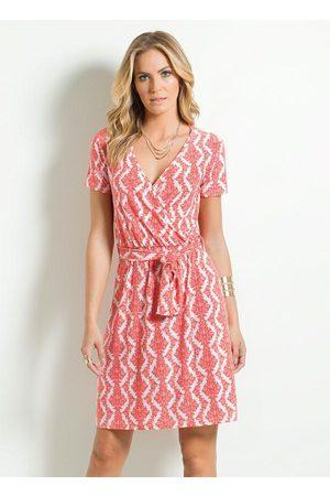 Multimarcas Mulher Vestido Estampado - Vestido Estampado Decote Transpassado
