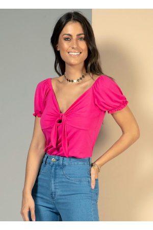 QUINTESS Blusa Pink com Amarração no Decote