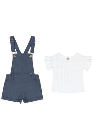 Up Baby Jardineira e Blusa Infantil