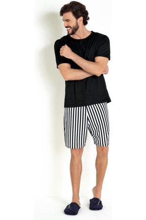 Actual Pijama Preto/Listrado