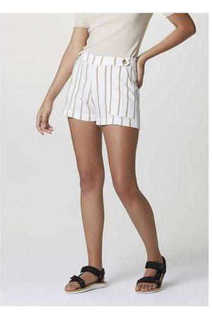 Hering Shorts Feminino com Detalhe de Botões em Linho Est