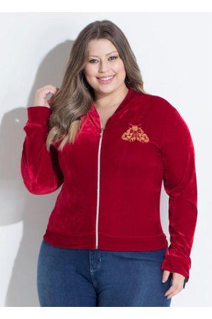 QUEIMA ESTOQUE Mulher Jaquetas - Jaqueta Vermelha com Detalhe Frontal
