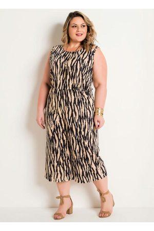 Marguerite Macacão Pantacourt Zebra Plus Size
