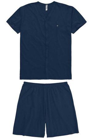 MALWEE LIBERTA Homem Pijamas - Pijama Marinho em Malha com Bordado