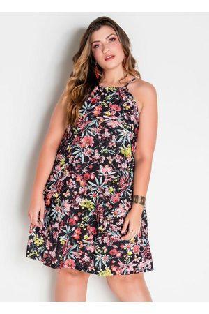Marguerite Vestido Trapézio Plus Size Floral