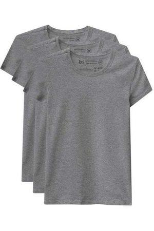 Basicamente Mulher Camiseta - Kit de 3 Camisetas Babylook Básicas