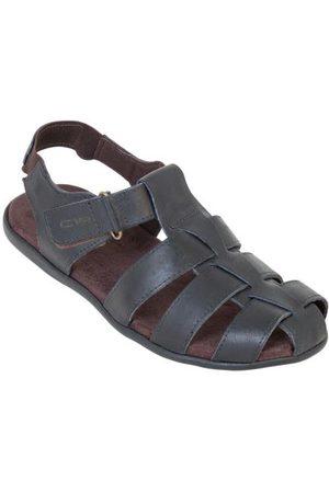 QUEIMA ESTOQUE Sandália Preta com Velcro e Elástico