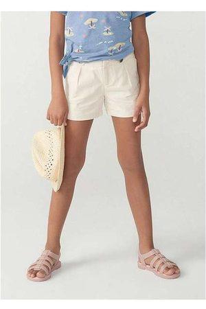Hering Shorts Menina em Tecido Alfaiataria Sarja Empapela