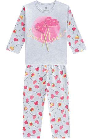 Brandili Pijama Menina em Malha com Estampa
