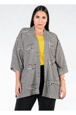 Mink Kimono Plus Size Amplo Preto