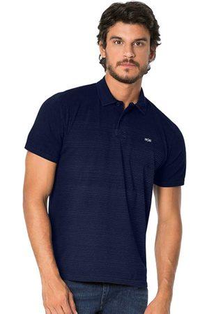 Hangar 33 Homem Camisa Jeans - Camisa Polo Malha Denim Marinho