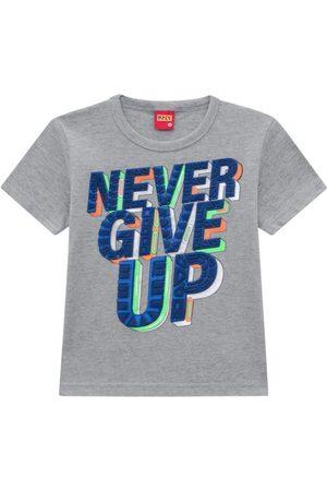 KYLY Menino Manga Curta - Camiseta Infantil Masculina Mescla