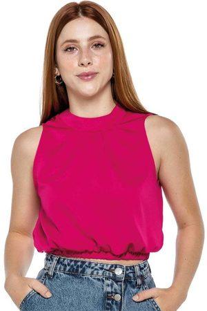 ENFIM Mulher Blusa - Blusa Escuro Satin Fosco