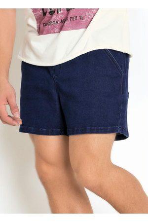 Actual Bermuda em Moletom Efeito Jeans