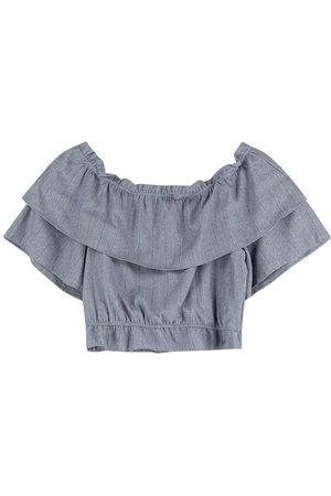 ENFIM Mulher Blusa - Blusa Ciganinha Cropped