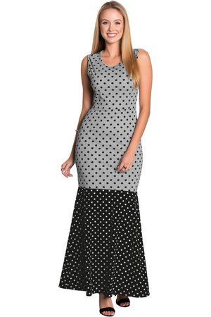 QUEIMA ESTOQUE Mulher Vestido Estampado - Vestido Longo Mix de Estampas Moda Evangélica
