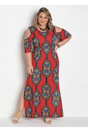 Marguerite Mulher Vestido Longo - Vestido Longo Cashmere Plus Size com Fendas