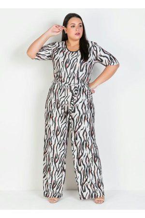 Mink Macacão Plus Size AnimalprintLongo