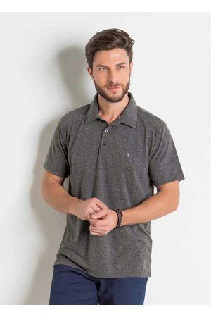 Actual Camisa Polo Mescla com Bordado