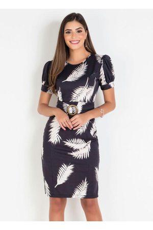 ROSALIE Mulher Vestido Estampado - Vestido Floral Dark Moda Evangélica