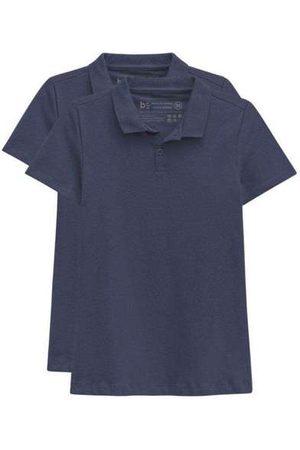 Basicamente Mulher Camisa Formal - Kit de 2 Camisas Polo Femininas