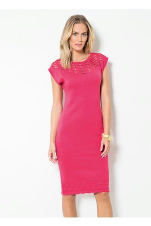 Multimarcas Mulher Vestido de Tricot - Vestido Tubinho em Tricô Pink