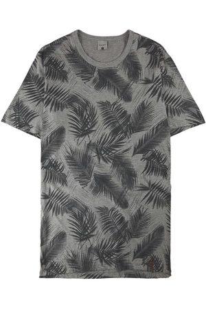 Malwee Homem Manga Curta - Camiseta Mescla Tradicional Folhagem em Malha