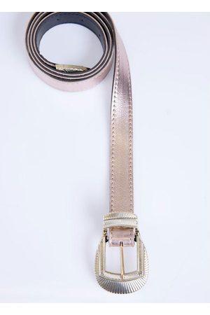 QUINTESS Mulher Cinto - Cinto Cobre Metalizado com Fivela em Dourado