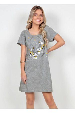 QUEIMA ESTOQUE Menina Vestido Estampado - Vestido T-Shirt Mescla Estampa Patins