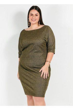 Mink Mulher Vestidos - Vestido Plus Size VerdeCom Brilho