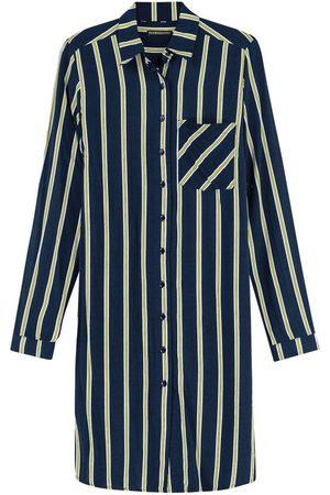 ENFIM Mulher Camisa Casual - Camisa Marinho Listrada Alongada
