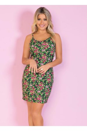 QUEIMA ESTOQUE Mulher Vestido Estampado - Vestido Tubinho Floral