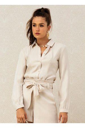 Doce Trama Mulher Camisa Casual - Camisa