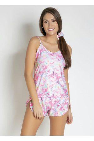 Alma Dolce Mulher Pijamas - Pijama de Alças Finas com Amarrador Tie Dye