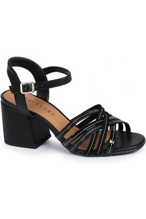 Offline Mulher Sapato Mule - Tamanco Salto Bloco Tiras