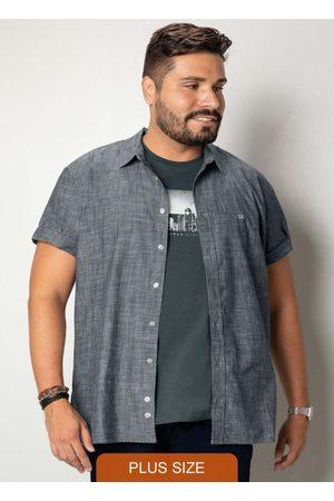 Wee Malwee Homem Camisa Manga Curta - Camisa Preta Tradicional Tricoline